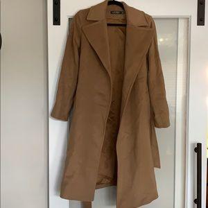 Lauren Wool-Cashmere Blend Notch Collar Wrap Coat
